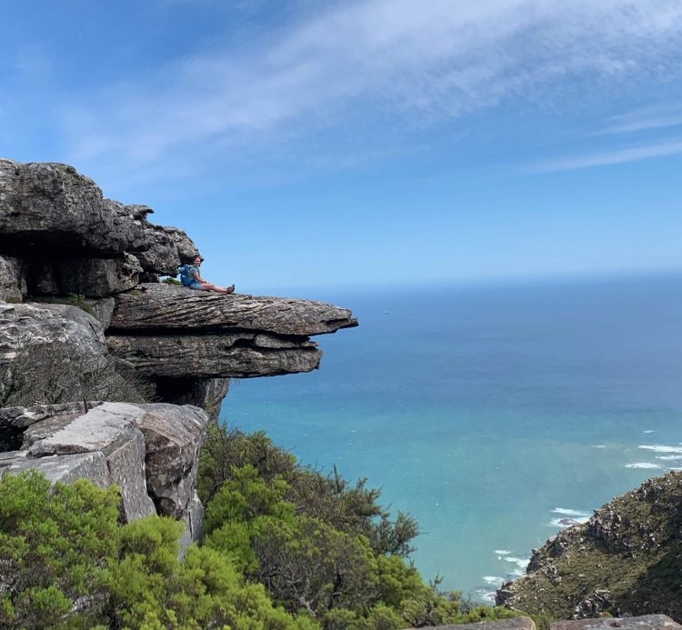 Views from our lunch spot on Table Mountain - Cape Town